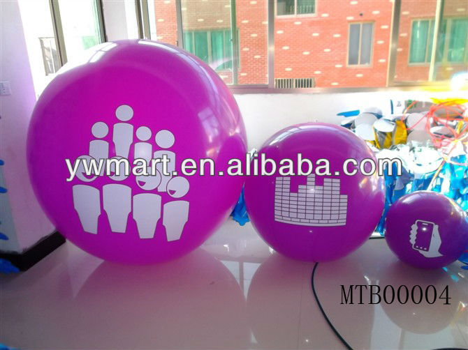 Environmental Plastic Led PVC inflatable gaint purple beach ball set