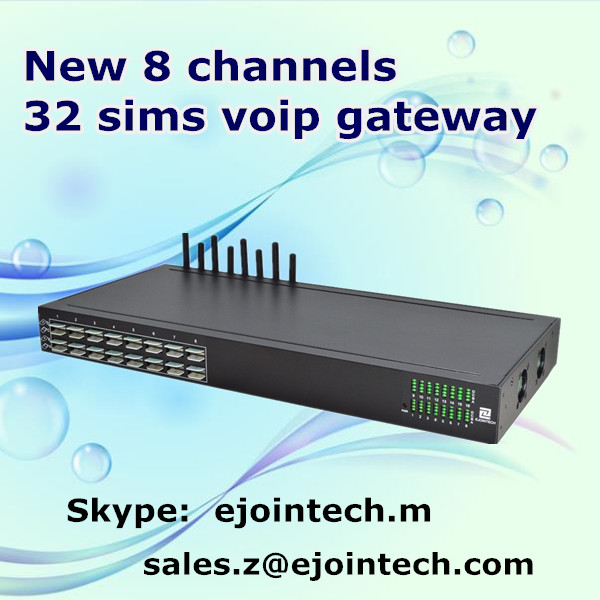 8 port 32 sims wireless ip phone gsm voip gateway price goip ACOM508SG-32