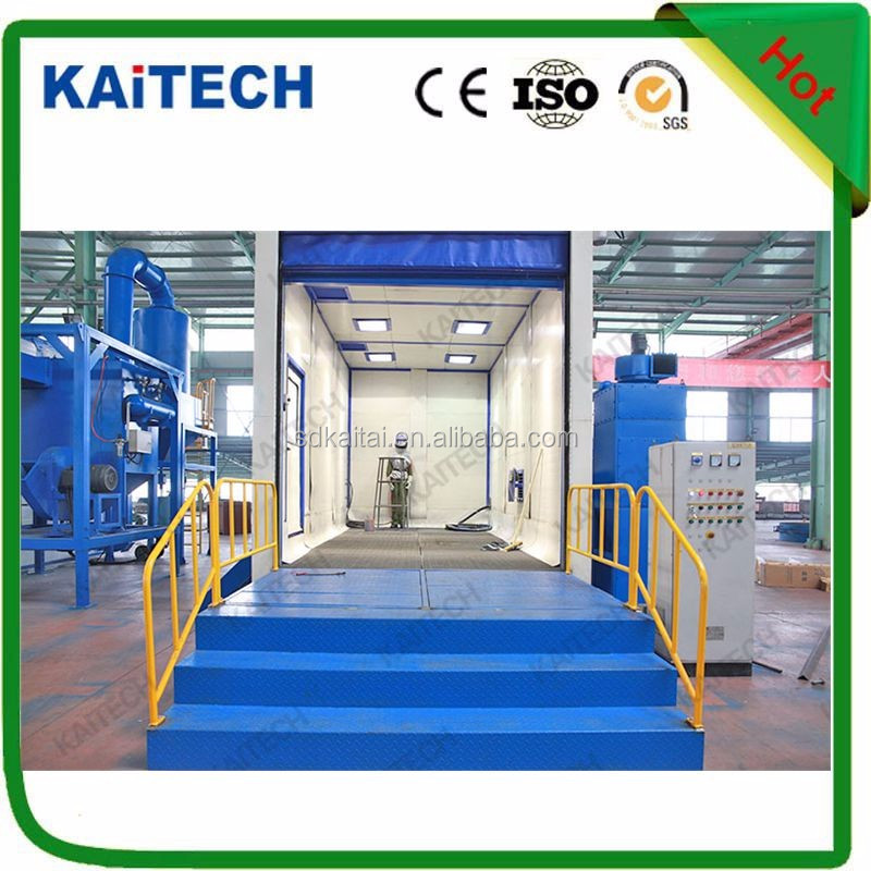 China Shandong kaitai Best quality vacuum sandblaster / commercial sand blasting room for sale