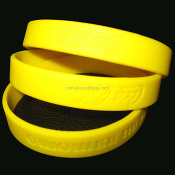 eco-friendly China silicone bracelet engraved design