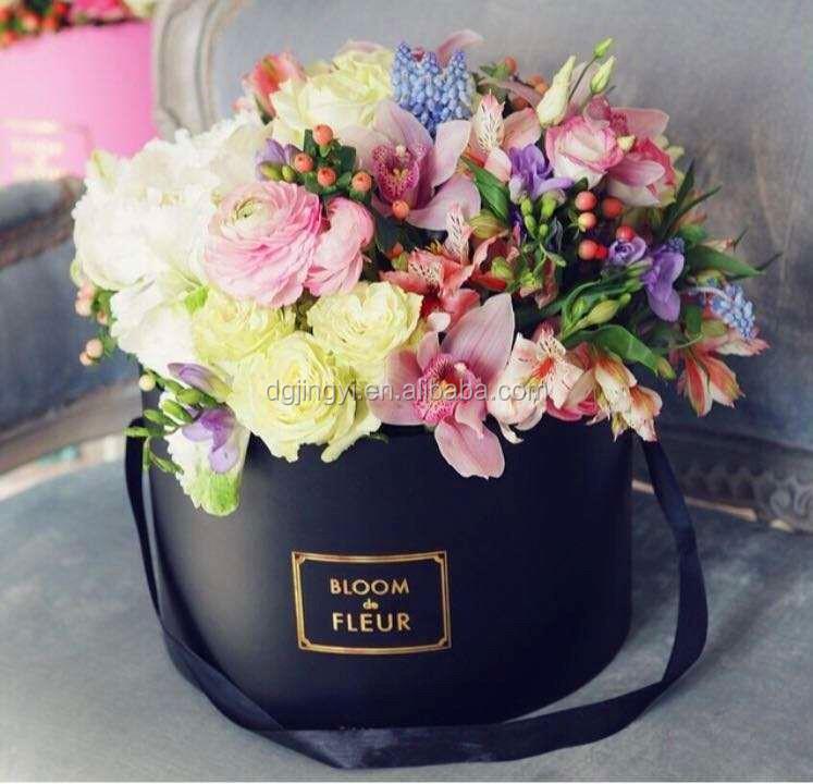 tanche ronde en carton bo te d 39 emballage en gros pour fleurs caisses d 39 emballage id de produit. Black Bedroom Furniture Sets. Home Design Ideas