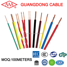 Guangdong cable factory BVR types of electric conductors cable 4mm2 flexible wire colored insulated pvc cable wire electrical