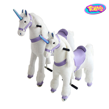 mechanical animal house ride walking unicorn toy
