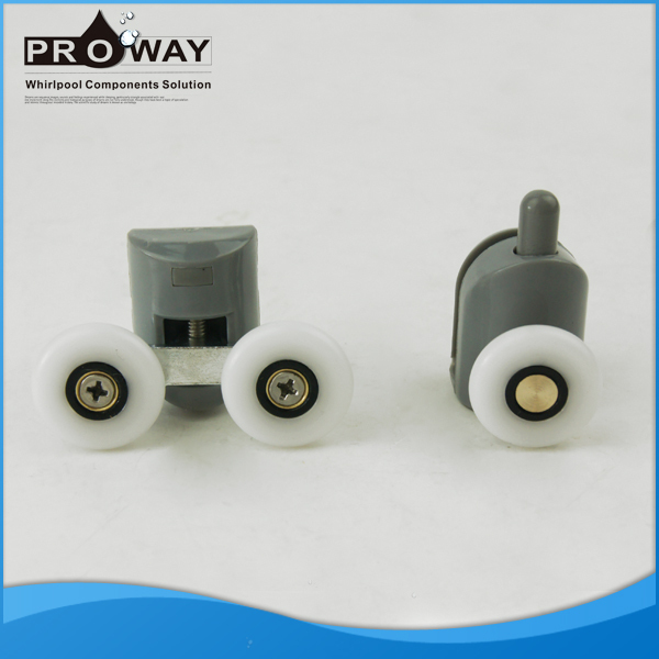 Shower Room Rollers for Shower Cabins Bearing Long Life working Sliding Door Roller Plastic Pulley with Bearing