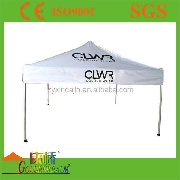 Outdoor folding trade tent display