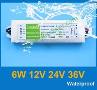 DHL/Fedex free shipping, Aluminium shell 6W 36V DC 36V AC to DC regulated power supply with CE Rohs IP67 waterproof