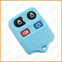 color car key blanks custom fobs ford remote key 4 buttons whole sale