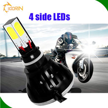 2016 high power headlight 12v 35w 55w hid led replacement for motors high /low beam h4 motorcycle motorcycle led taillight