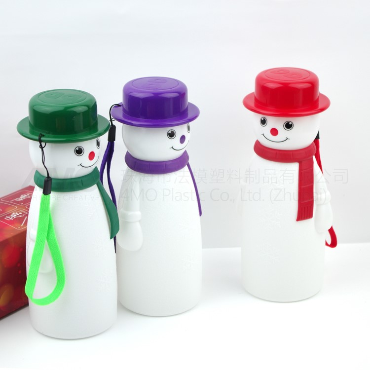 Christmas gift box, custom snowman drinking water bottle wholesale