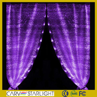 Newest deco Fashion luminous fiber optic led linghting crystal bead curtain