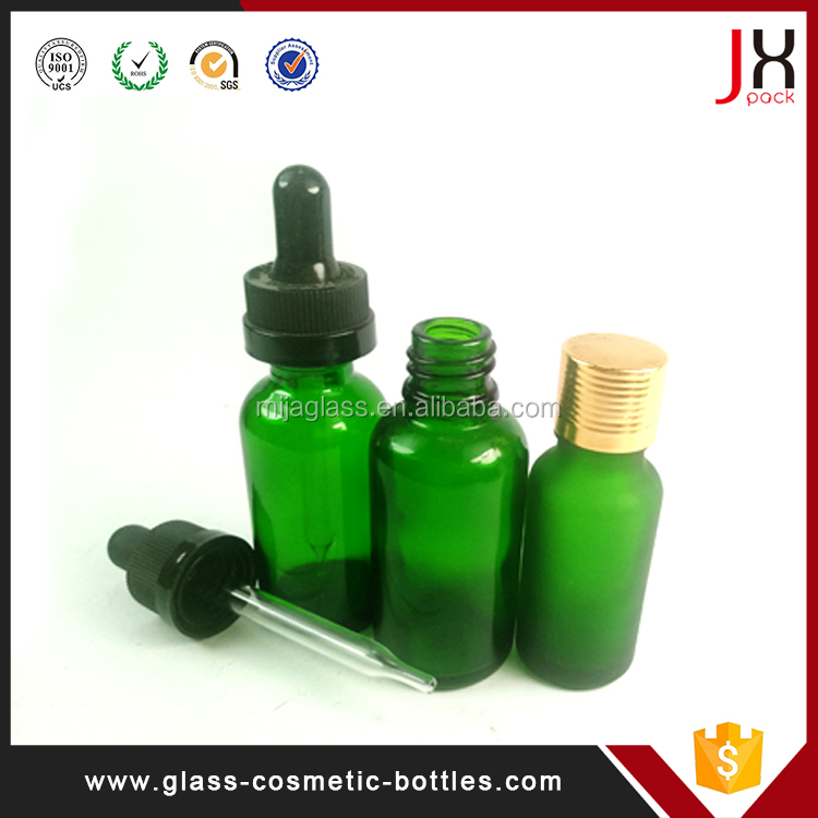 Label Printing 10ml 30ml 50ml 100ml Frosted Amber Essential Oil Dropper Glass Bottle
