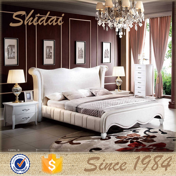 Foshan modern bed design new model double bed latest for Double bed new design