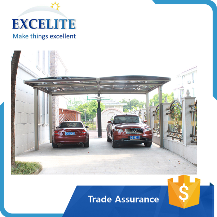 New Two-car Polycarbonate Carports with UV Coating