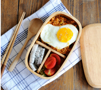 AQ028 New Arrivals Japan Style Eco-Friendly Natural Wooden Lunch Box Table Ware