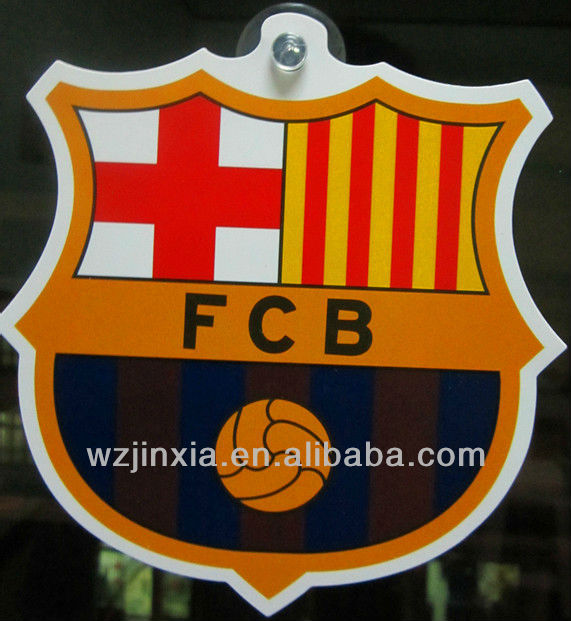 Custom Car Window sign of FCB