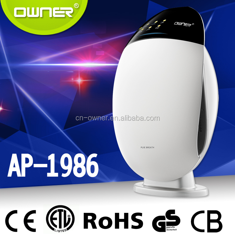 Owner china home ionized HEPA and carbon air purifier cleaner bacterial dust remove GS CE
