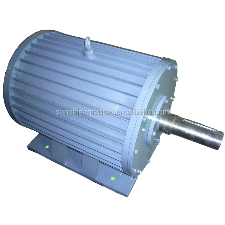 10KW permanent magnet generator 250RPM alternator 50Hz output, foot mounting, SKF Bearing