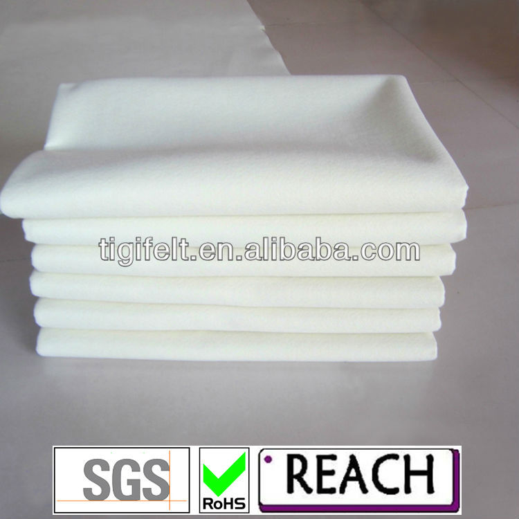 3mm Natural White Pressed Wool Felt