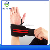 High quality polyester elastic weight lifting wrist wraps sporting wrist bands