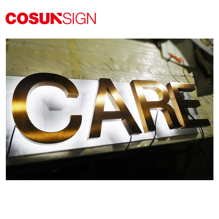 Cosun Sign 3D Backlit Acrylic Metal Light Up Led Channel Alphabet Letter Sign