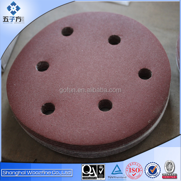 Round Abrasive paper disc with holes