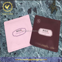 customized design heat seal foil lined plastic Colorful Facial Mask Packaging for cosmetic face mask sheet