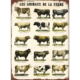 Preciser Retro Animals Printed Metal Sign For Home Decor