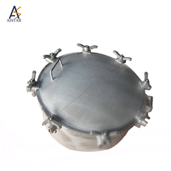 Aluminum alloy manhole cover double seal fuel tank truck manhole cover lock