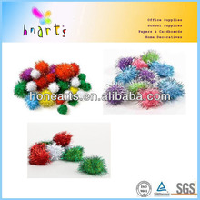 Glitter pom pom balls for craft