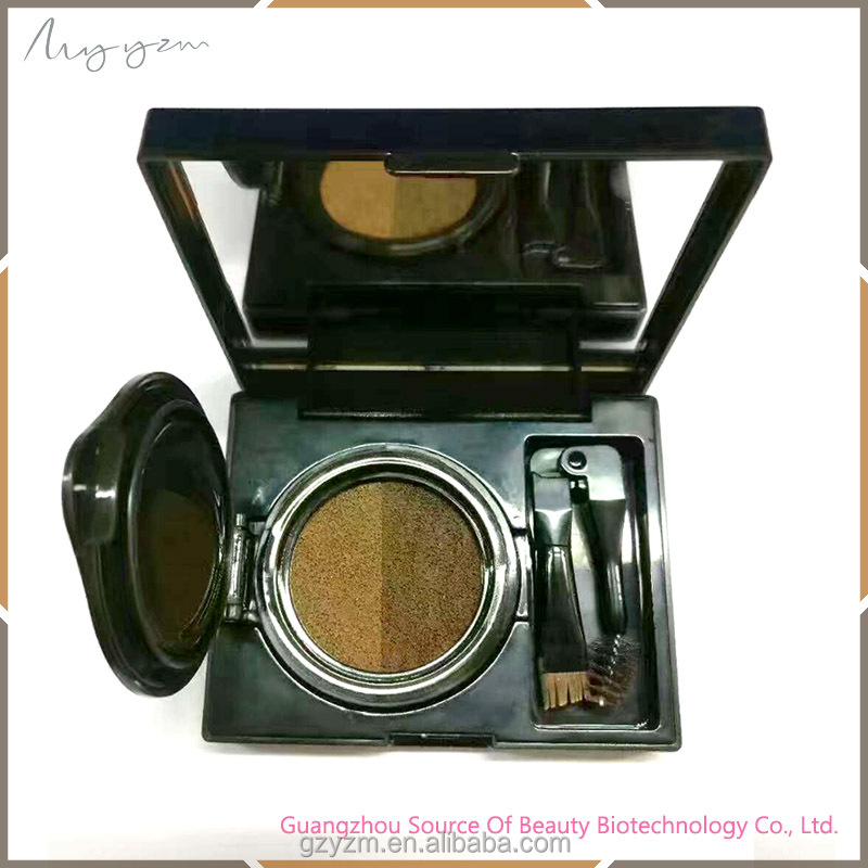 Makeup Two Colors Eyebrow Powder Lasting Waterproof Dubble Colors Air Cushion Eyebrow Powder
