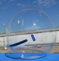 TPU clear inflatable aqua water rolling ball for pool