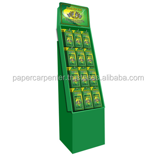 Carton cardboard Hook Display for Products Hanging