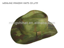 flower printing cheap straw cowboy hats for men
