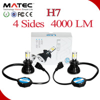 1 Pair 80W 8000LM Auto Car LED Headlight H7 6000K High Power COB Leds Headlamp Light Bulbs Kit