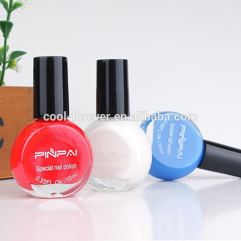 10ml 25 colors hot sale good quality stamping nail polish