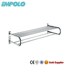 Stainless steel double tier towel racks for bathrooms 11027