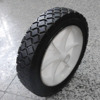 Hot selling 7 & 8 inch solid plastic rim rubber wheels
