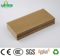 140*40mm groove composite decking WPC wood plastic composite soid flooring