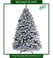 6FT Artificial Lighted Christmas Tree With Snow