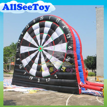 5.4m Height 2 Sides Giant Inflatable Foot Soccer Darts Game for Sale
