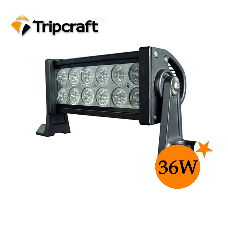 over 30000 hours life time high bright 36w car led light bar, 7.5 inch light bar led sxs 18 led light bar
