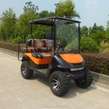 4 seats offroad golfcar with gas or electric power