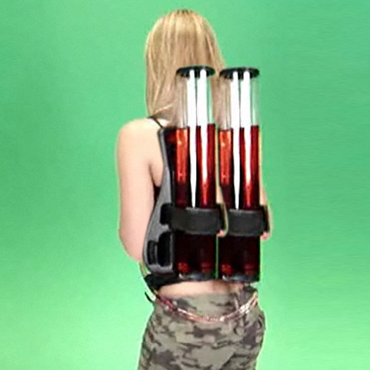 High Capacity Outdoors Backpack Type Double Cylinder Beverage Beer Dispenser