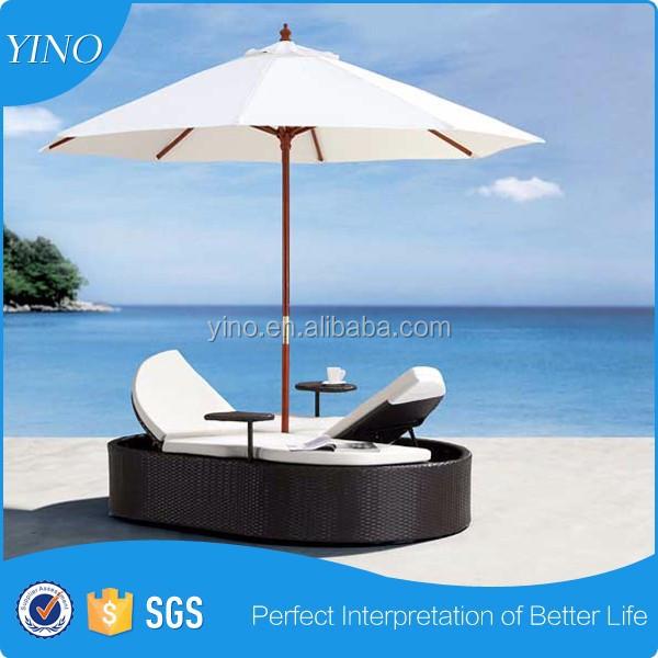 outdoor rattan doppelliege bett ohne so0105 ottomane. Black Bedroom Furniture Sets. Home Design Ideas