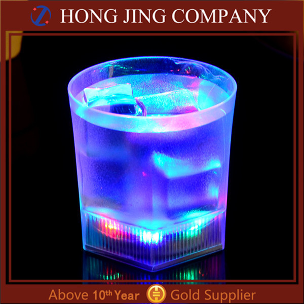 Custom LED flashing cup and frozen drink led glass cups