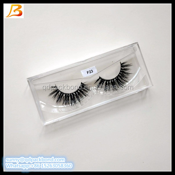 Transparent plastic eyelash packaging box with high quality