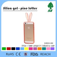 Custom animal Shape Design Rabbit Ear Mobile Phone Case,PVC phone cover for Apple Iphones