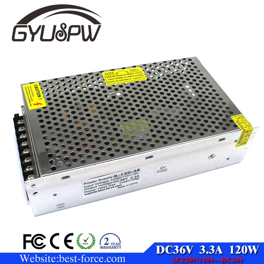 <strong>Manufacturing</strong> 36V 120W 3.3A Led Switching Power Supply Transformer 220v 110v AC to fonte 36V For Led Strip light