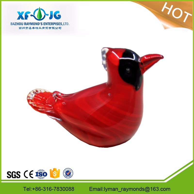 Murano glass red bird