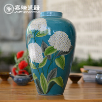 Old Chinese Hand Painted Porcelain table flower vase